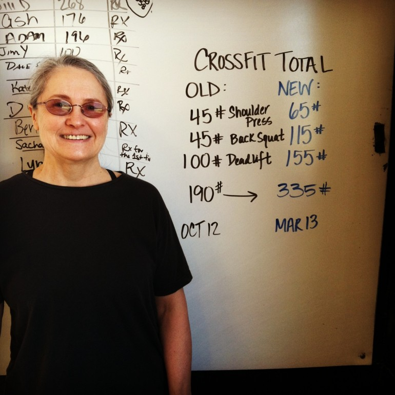 My lifting achievements after 180-days of Paleo and CrossFit, March 2013.